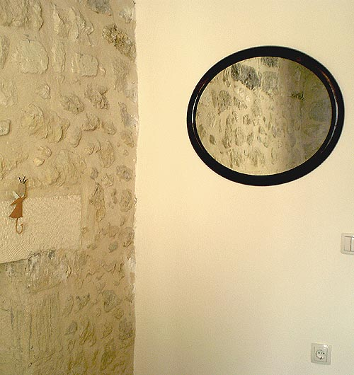 typical oval mirror Agioklima traditional house