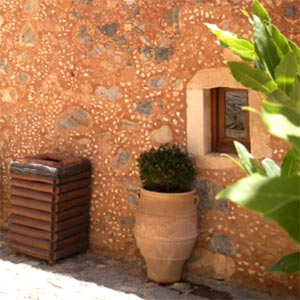 Brickwork in Cretan traditional house
