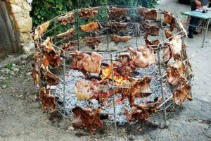 roasted goat or lamb meat