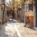 Rethymnon crete old city alleys