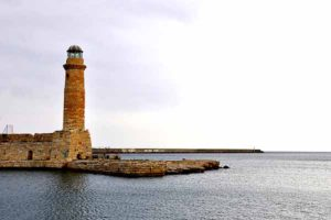 The old lighthouse of Rethymnon port
