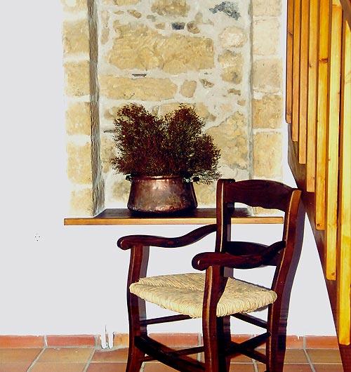 Agioklima, armchair with straw seat