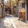 Rethymnon crete old city alleys